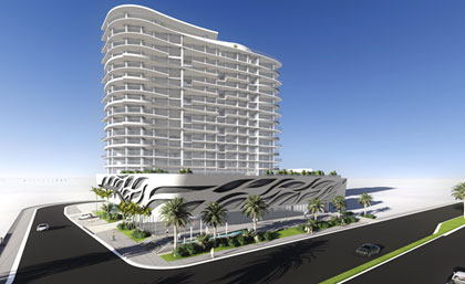 Rendering of Verzasca Group's planned tower in Sunny Isles Beach