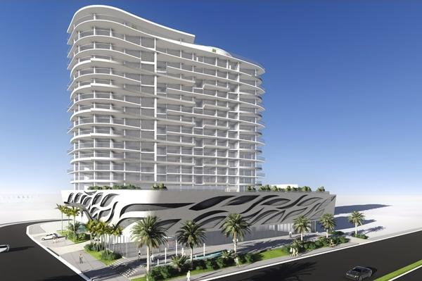 Verzasca Group plans to build this 76-unit condo at the site of the Denny's in Sunny Isles Beach.