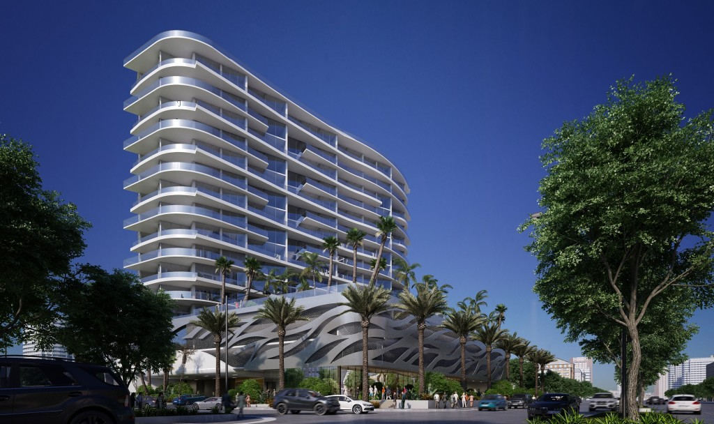 Rendering of Aurora at 17550 Collins Avenue